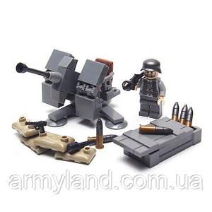 Военные фигурки,Немецкая зенитная 88-мм пушка Flak 18 военный конструктор, аналог лего, BrickArms