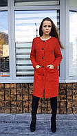 Пальто женское П6 букле красное