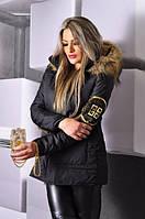 Зимняя куртка женская GIVENCHY черная , куртки женские