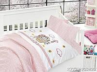 Постельное белье в кроватку First Choice Бамбук сатин Kitty pembe
