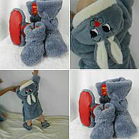 Детский махровый халат Зайка от 2 до 6 лет