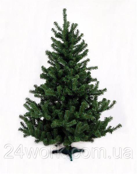 Ель искусственная новогодняя (ПВХ) зеленая 1.3 м