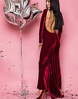 Вечернее платье с открытой спиной   2059 br красный