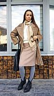 Пальто женское П2 букле песочное