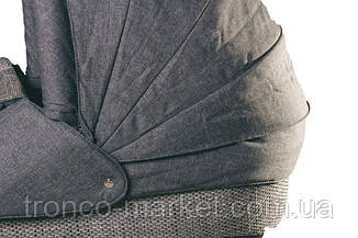 Коляска 2 в 1 adamex lara eco бежевая рама серый-серый 603K, фото 2