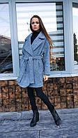 Пальто женское П2 твид серый