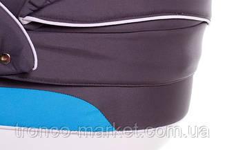 Коляска 2 в 1 adamex aspena белый-голубой-графит 11Р, фото 2