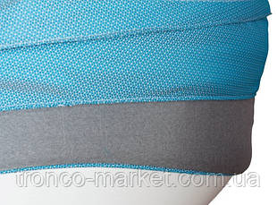 Коляска 2 в 1 adamex active len синий(меланж)-серый 87L, фото 3