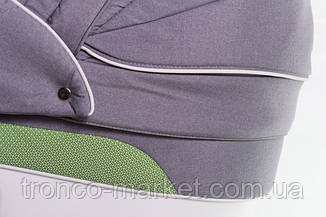 Коляска 2 в 1 adamex aspena зеленый(меланж)-серый 89L, фото 3