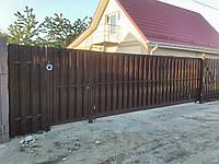Откатные ворота с автоматикой