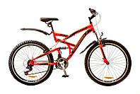 """Велосипед Discovery Canyon 26"""" AM2 14G Vbr St рама 19"""" 2017 (красно-черный)"""