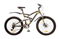 "Велосипед Discovery Canyon 26"" AM2 14G DD St рама 19"" 2017 (серо-черно-желтый)"