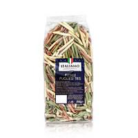 Макароны цветные Italiamo «Fusilli Pugliesi Tris» со шпинатом и томатами, 500 г.