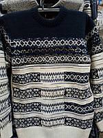 Мужской теплый свитер вязанный