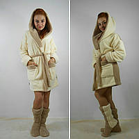 Комплект махровый халат + махровые сапожки