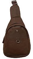 Стильный рюкзак кожаный 218 chocolate