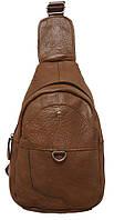 Стильный рюкзак кожаный 218 brown/1