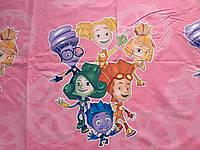 """Комплект детского постельного белья  бязь голд """"Фиксики на розовом"""", ранфорс"""