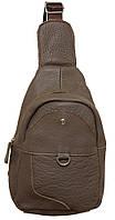 Стильный рюкзак кожаный 218 grey