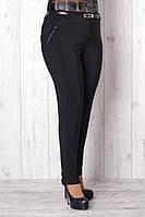 Женские зауженые брюки батал черного цвета, р.50,52,54,56 код 2002М