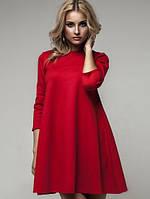 Женское трикотажное расклешенное платье-балахон, 6цветов, (40-46)