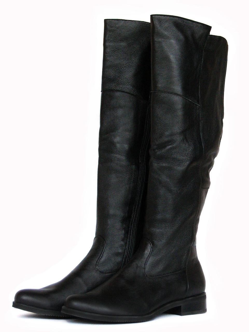 Ботфорты кожаные черные