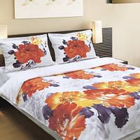 Недорогое двуспальное постельное белье акварель бязь теп двуспальное