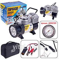 Компрессор VITOL Торнадо 1 цилиндр (прикур,фонарь,автостоп) (КА-T12220) (Vitol)