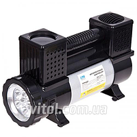 Компрессор VITOL Вулкан 2 цилиндра (клемма,фонарь, шланг 7,5м) (КА-T12121) (Vitol)