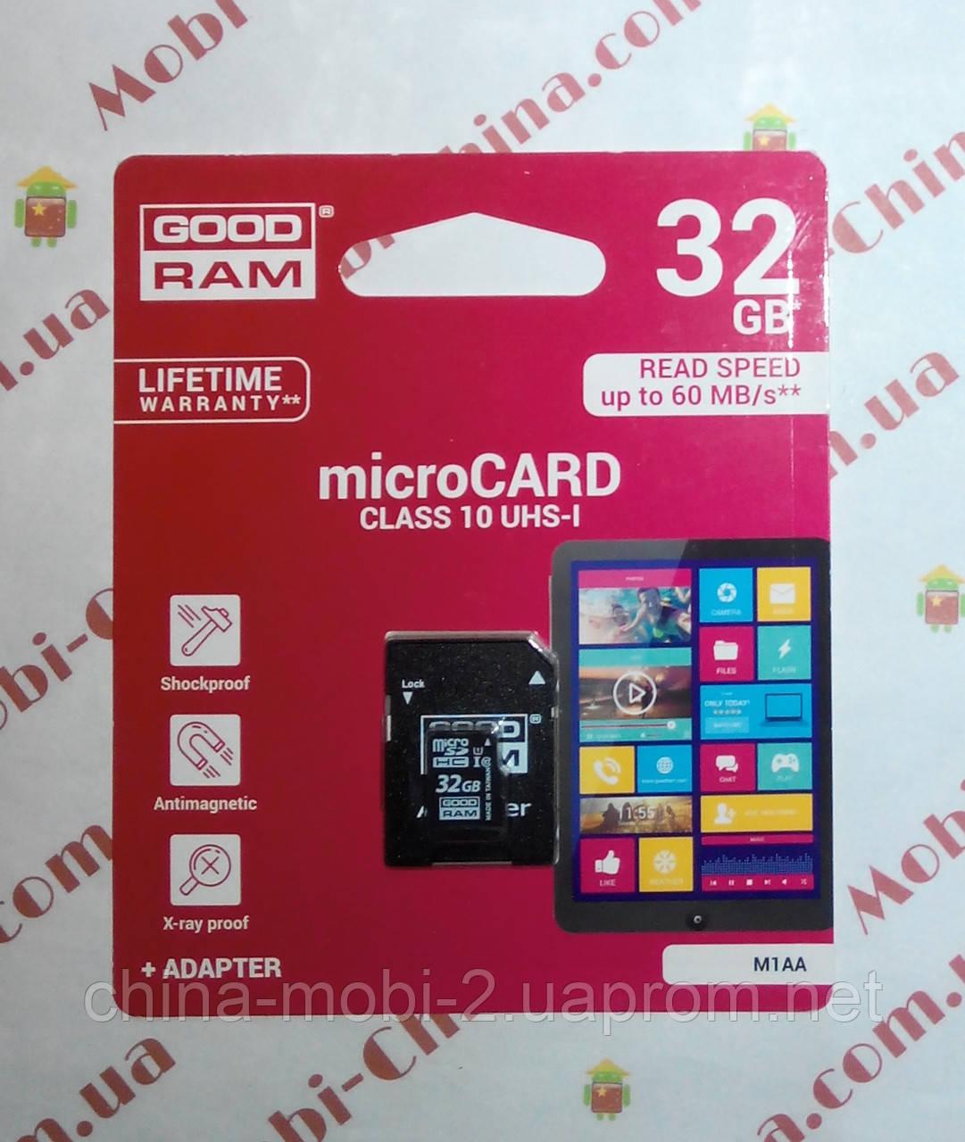 Карта памяти 32ГБ  флешка micro SD 32Gb