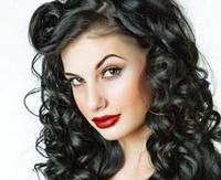 Волосы на заколках 120 г 60 см, цвет чёрный (№ 1)