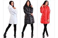 Пальто на молнии и кнопках синтепоновое плащевка зимнее