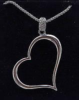 Кулон сердце на цепочке.