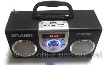 Акустическая колонка  Atlanfa AT-8979BT с Bluetooth  MP3/SD/USB/FM/, black, фото 2