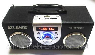 Акустическая колонка  Atlanfa AT-8979BT с Bluetooth  MP3/SD/USB/FM/, black, фото 3
