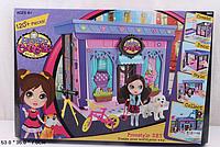 Домик сборной с куклой и мебелью