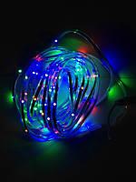 Светодиодная гирлянда 3528 LED RGB  Влагозащищенная 130 диодов  6м
