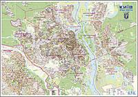 Настенная карта Киева 160x110 см, М1:21 000 - ламинированная/на планках, фото 1