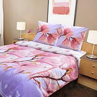 Двуспальный евро комплект постельного белья магнолия