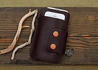 """Шкіряний чохол """"Dual"""" для iPhone 5,5s,5c,6,6s,7 , під інші телефони, Кожаный чехол для iPhone"""