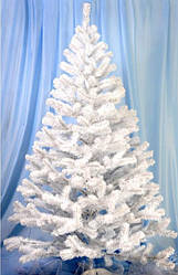 Штучна новорічна ялина біла (ПВХ) 1.50 м.