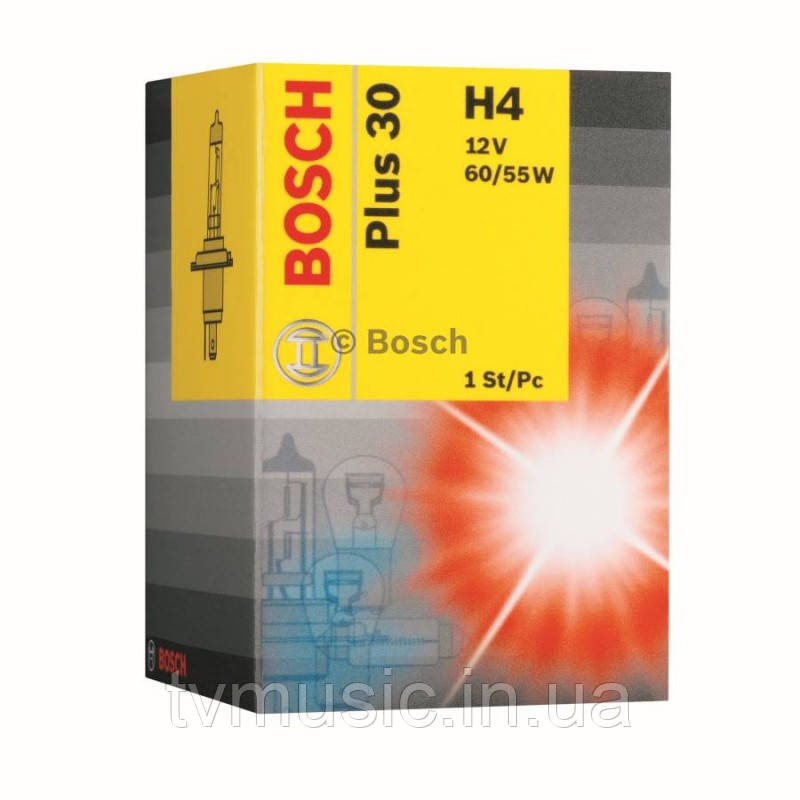 Автомобильная лампа Bosch Plus 30 H4 12V 60/55W (1987302042)