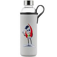 Стеклянная бутылка для воды 350 мл