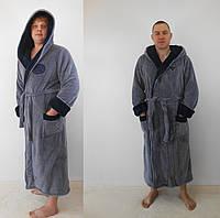 Мужской махровый серый халат