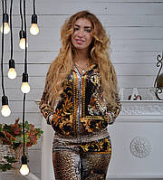 Велюровый женский спортивный турецкий костюм Roberto Cavalli  купить разм 42,44,46,48