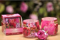 Свеча в стакане ароматизированная Букет цветов