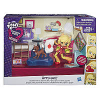 Игровой набор с мини-куклой пони Эпплджек Пижамная вечеринка Equestria Girls Minis