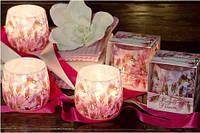 Свеча в стакане ароматизированная Букет цветов1