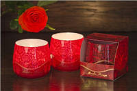 Свеча в стакане ароматизированная Роза