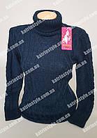 Теплый свитер из мягкой и пушистой пряжи с воротником под горло